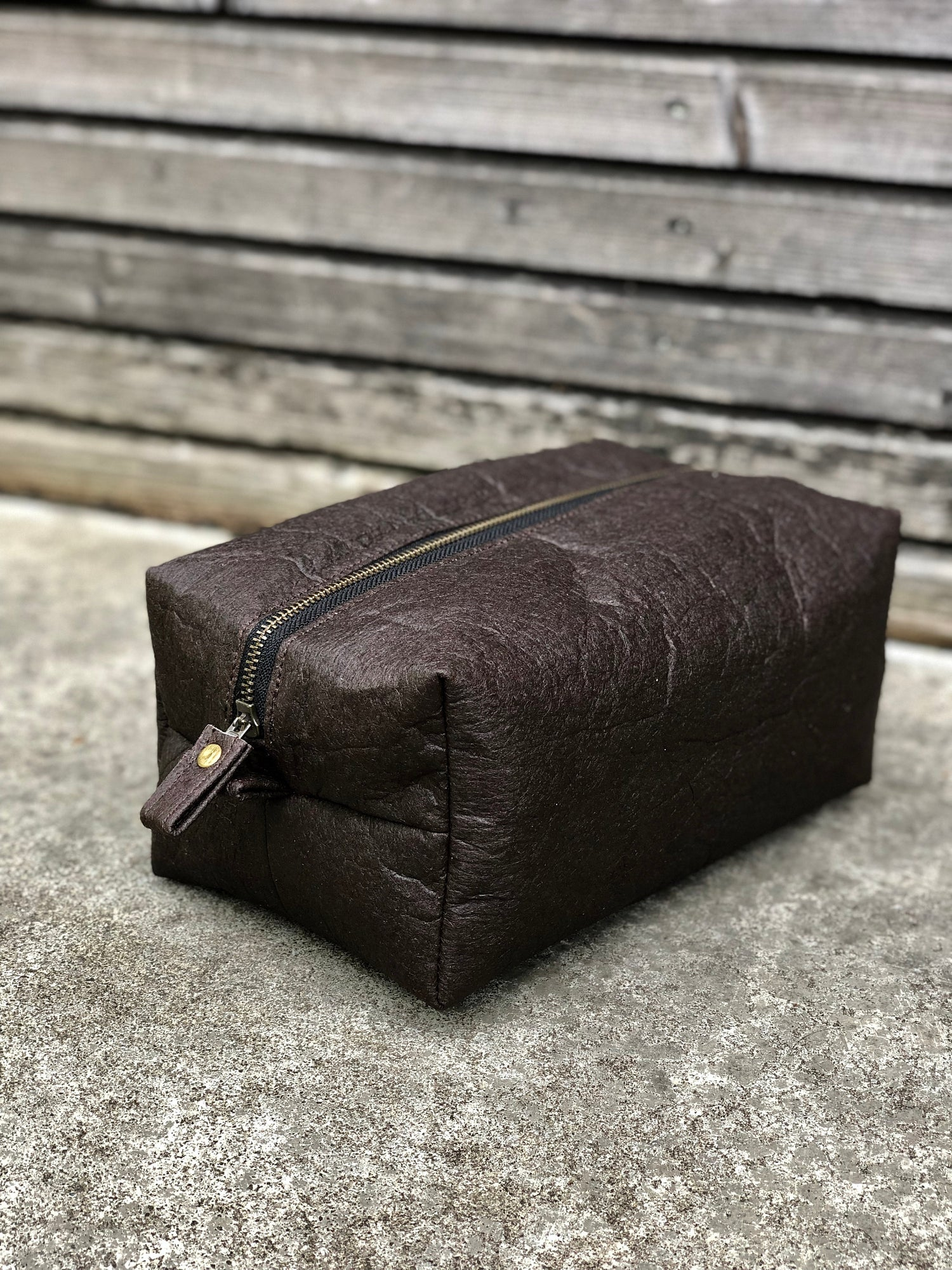 Image of Piñatex™ dopp kit shaving bag toiletry bag