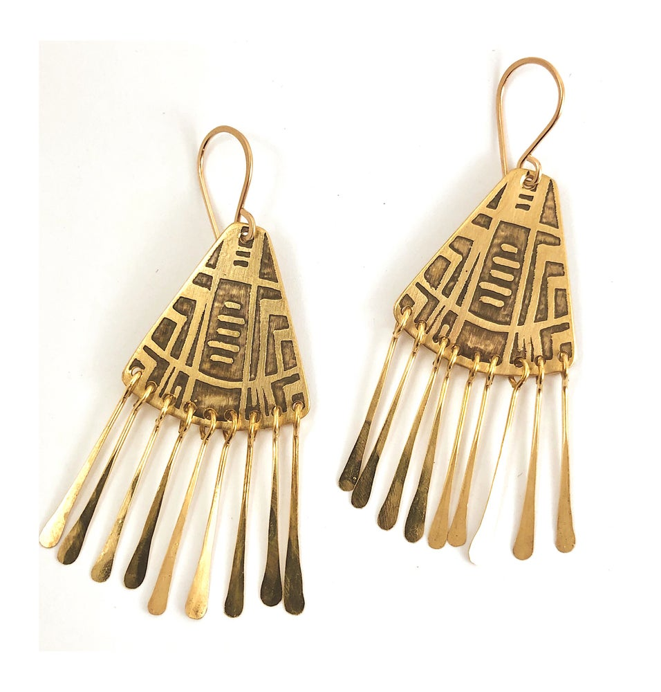 Image of Small Portal earrings w tassels