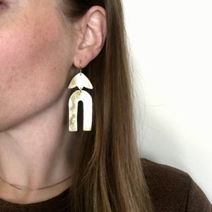 Image of row earring