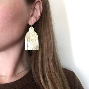 Image of fringe shield earring
