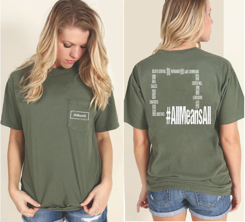 Image of #AllmeansALL Comfort Color SHORT SLEEVE (SAGE)