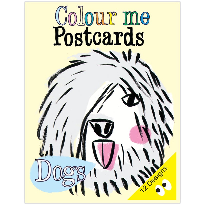 Image of Colouring Postcard Booklet DOGS