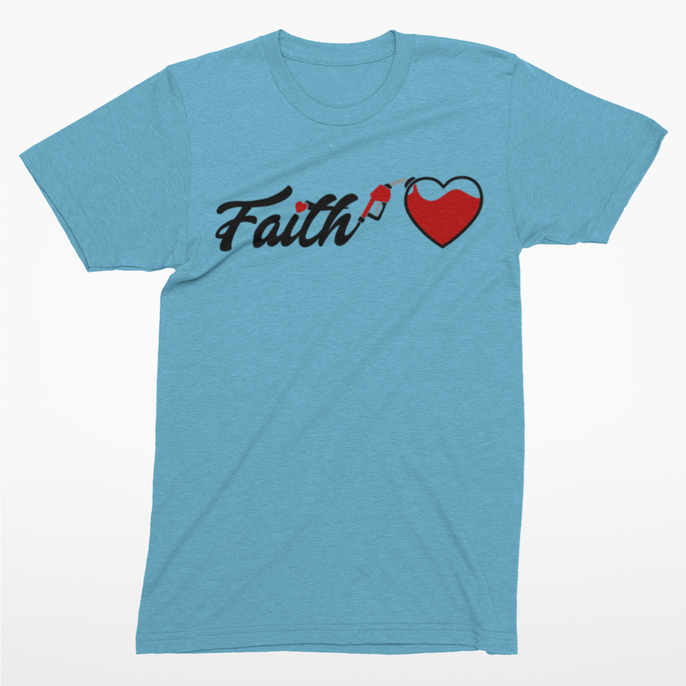 Image of Fueled by Faith Tee - Blue