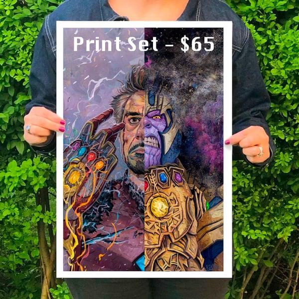 Image of SET- Thanos - Iron Man