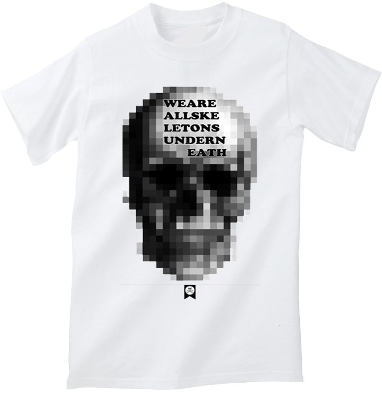 Image of EDIFICE CLOTHING SKULL MEN'S 1 COLOR HAND PRINTED SHORT SLEEVE S-XXL