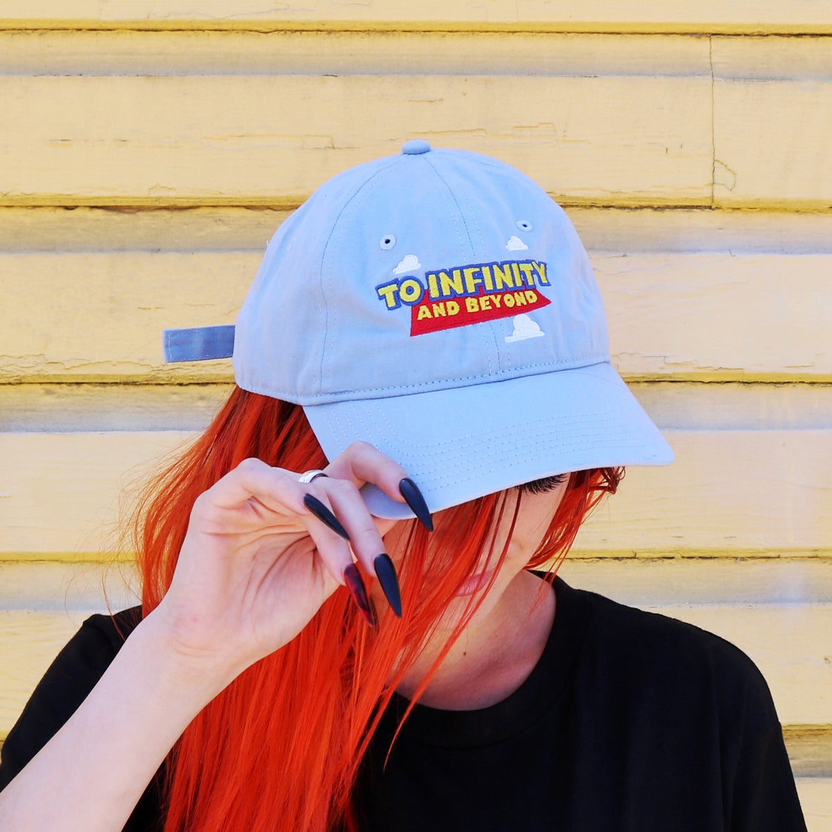 Image of To Infinity Dad Hat Light Blue
