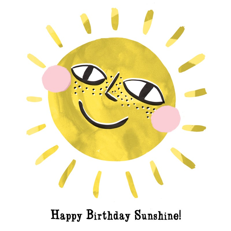 "Image of ""Happy Birthday Sunshine"" Card"