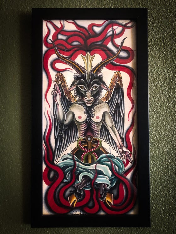 Image of Baphomet Original Painting