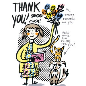 "Image of ""Thank you sooo much!"" Card"