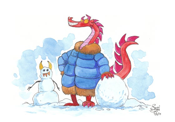 "Image of Pen & watercolour - ""Winter Wonderland"""