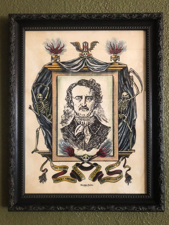 Image of Edgar Allan Poe Original Painting