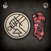 Image of Hellboy/B.P.R.D.: B.P.R.D. Logo & Right Hand of Doom patches! FREE U.S. SHIPPING!