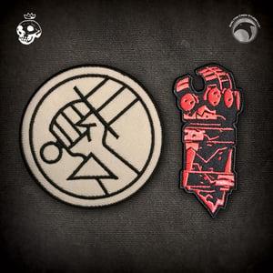 Image of Hellboy/B.P.R.D.: B.P.R.D. Logo & Right Hand of Doom patches!
