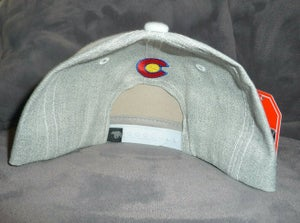 Image of COLORADO STATE GREY HAT BEAR LOGO WITH STATE FLAG