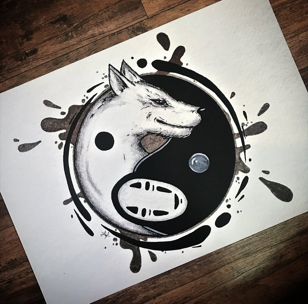 Image of Yin yang ghibli prints