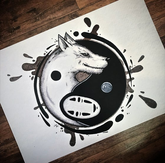 Image of Yin yang ghibli prints