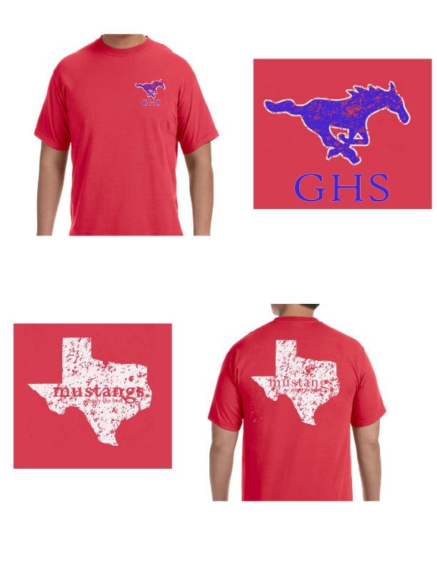 Image of RED GHS TEXAS TEE