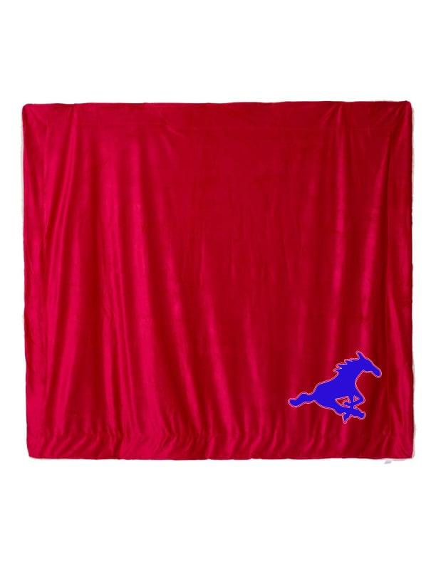 Image of OVERSIZED RED OR NAVY SHERPA FLEECE GHS BLANKET