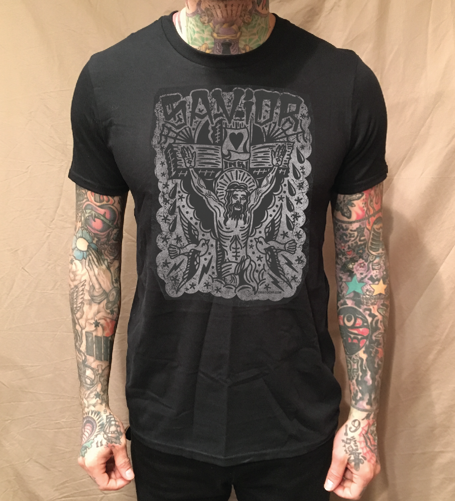 Image of SAVIOR ON BLACK TEE