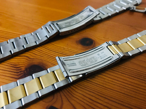 Image of Rolex 19mm oyester gents watch strap,2 x colors,TOP QUALITY.