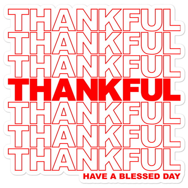 Image of Thankful Sticker