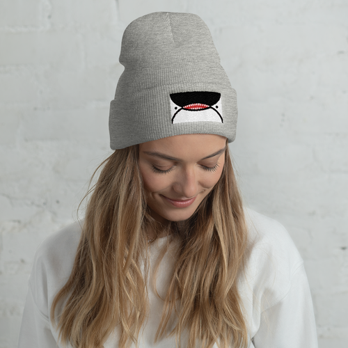 Image of Orca Face Seattle Flag Beanie