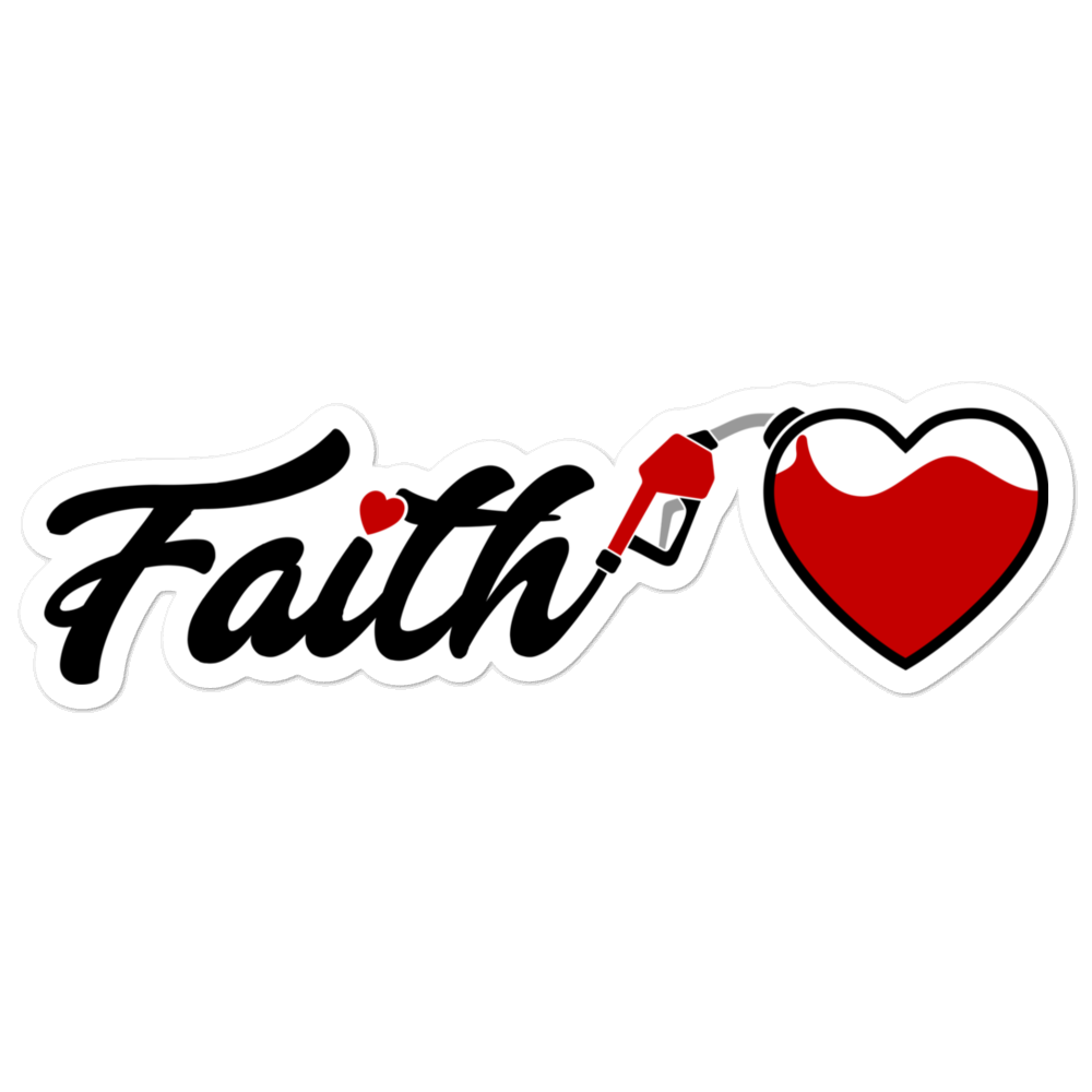 Image of Fueled by Faith Sticker