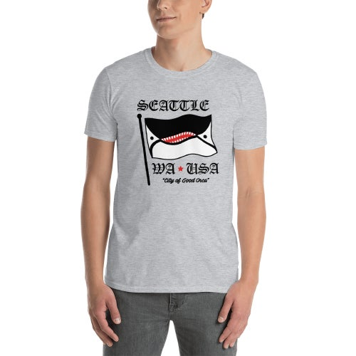 Image of Seattle City Flag Grey T-Shirt