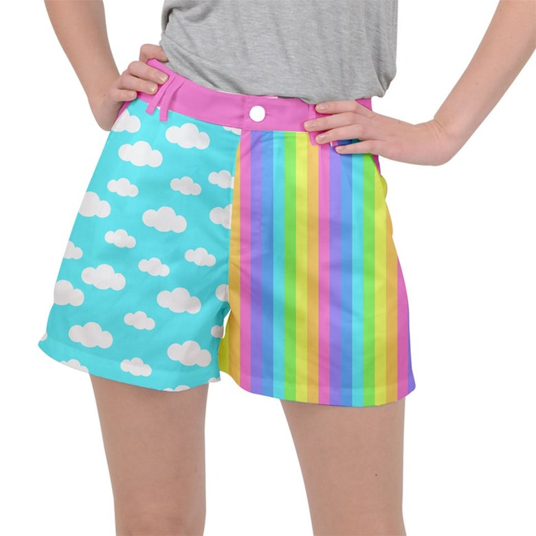 Image of CLOUD RAINBOW COLORBLOCK SHORTS PREORDER (ends 8/20)