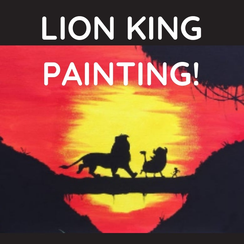 Image of LION KING PAINTING!