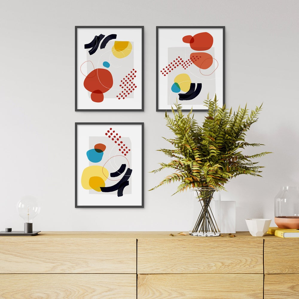 Image of Shape and Hue Series — 3 Print Set