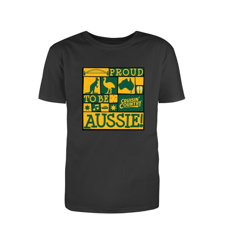 Image of Cruisin' Country Aussie T-Shirt - Black