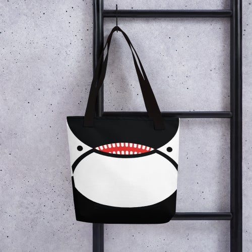 Image of Orca Face Seattle Flag Tote Bag
