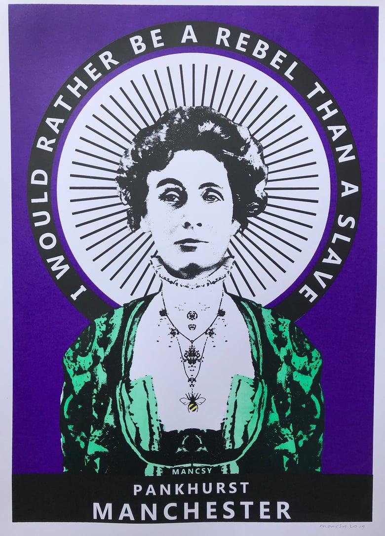 Image of A2 Suffragette colour-way Pankhurst