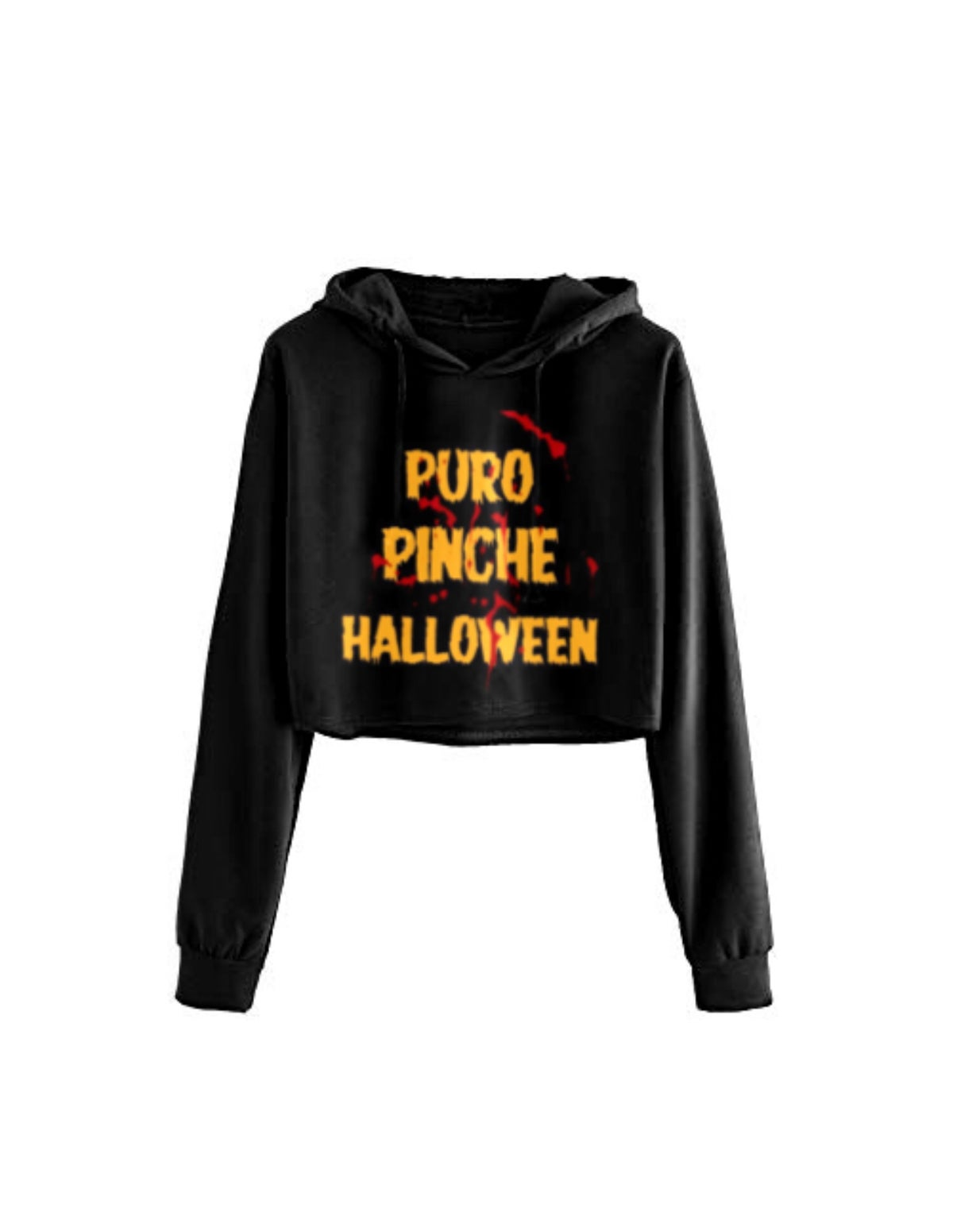 Image of Puro Halloween Cropped Hoodie