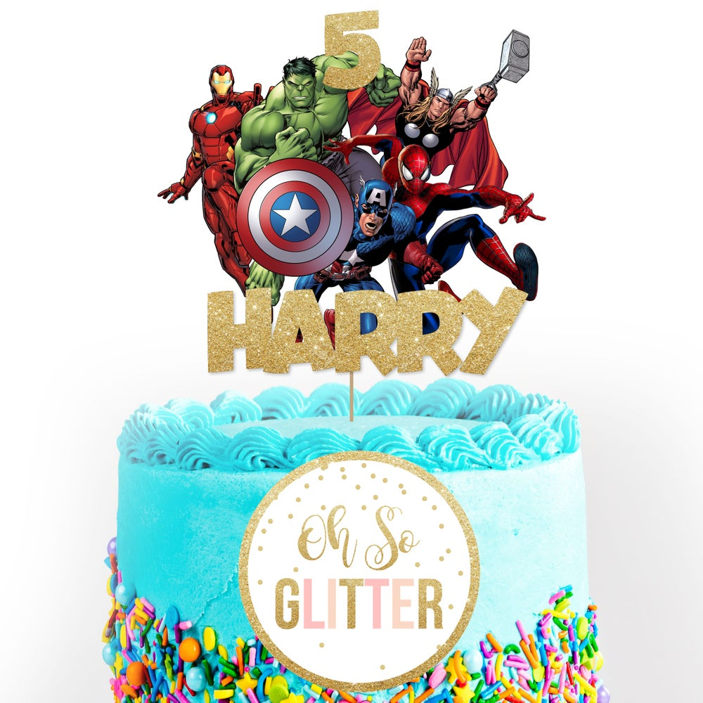 Image of Marvel Customised Cake Topper