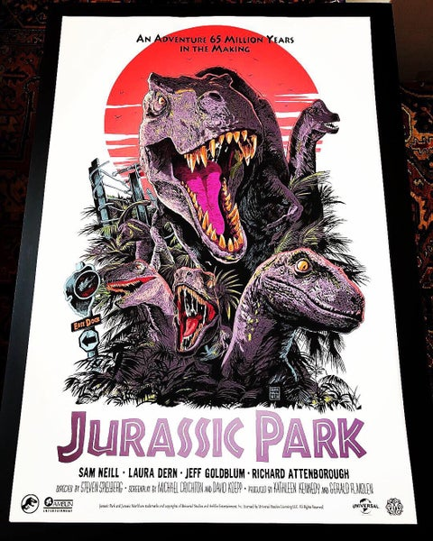 Image of Jurassic Park 2019 Variant Mondo Screen Print (Artist Proof, Variant Edition)