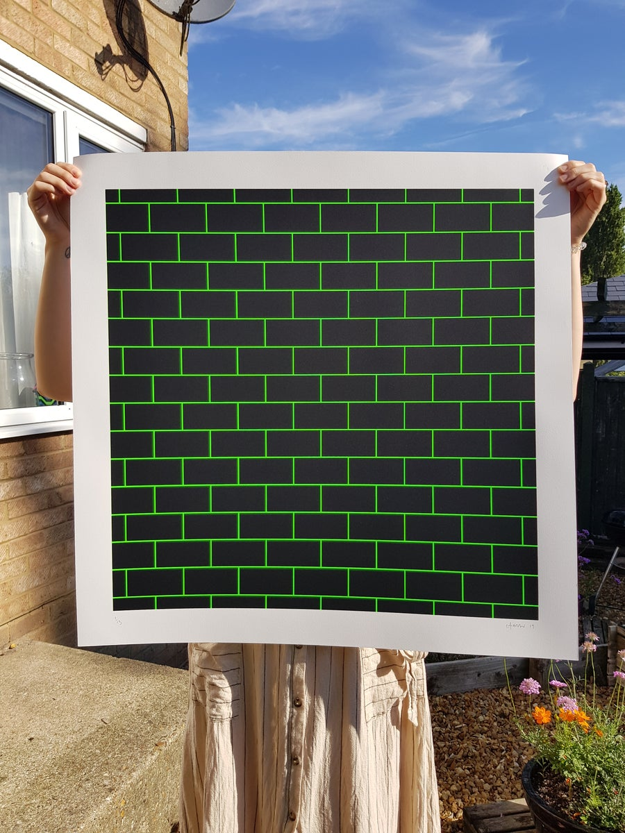 Image of 'BRICKS' NEON GREEN