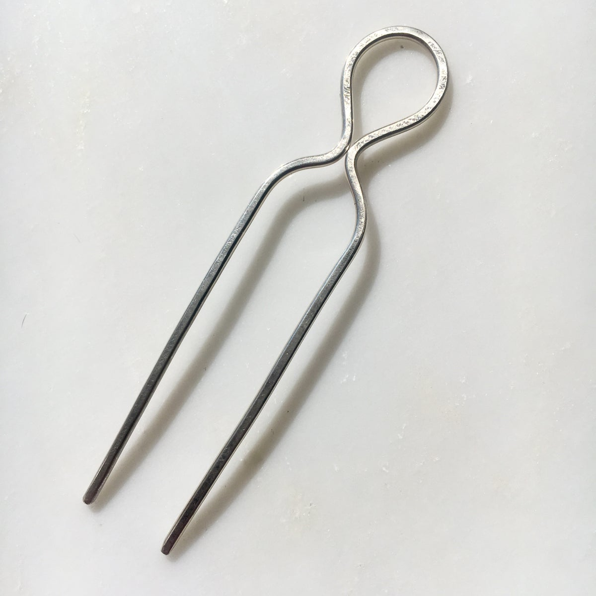 Image of sterling silver loop hair pin
