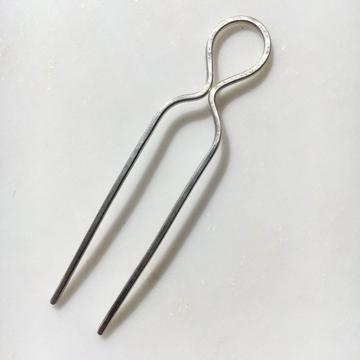Image of sterling silver loop hair pin