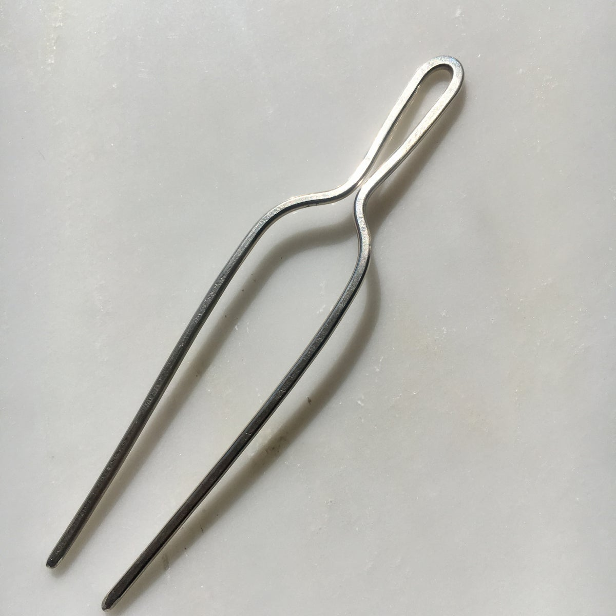 Image of sterling silver classic hair pin