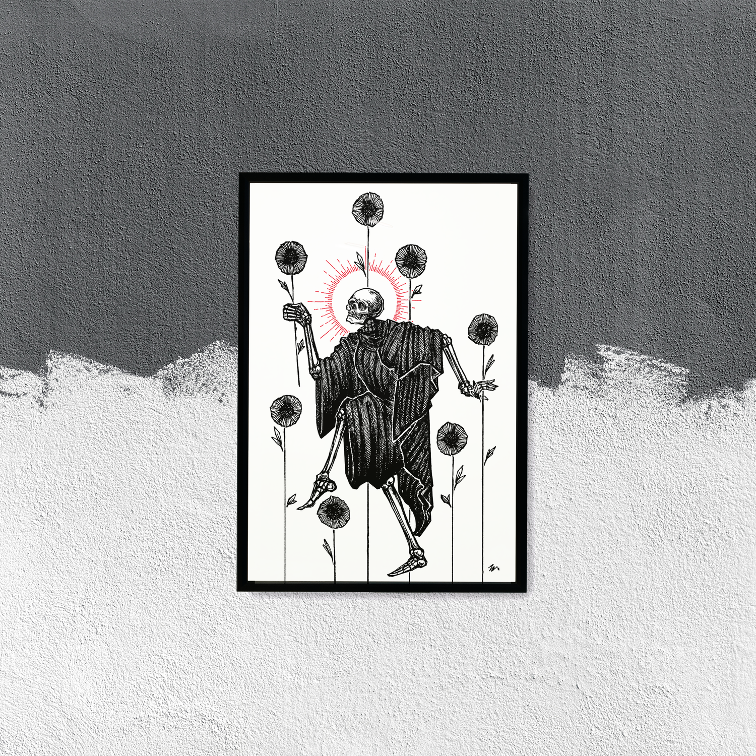 """Image of LIMITED EDITION RUN OF 10, """"Seven of Wands"""" 12""""x18"""" Watercolor Paper"""