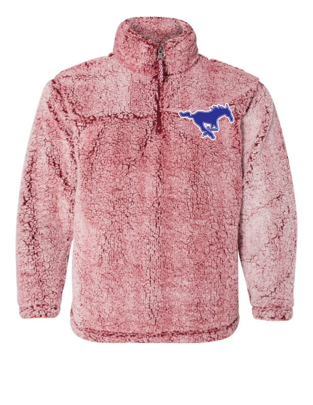 Image of GHS RED OR BLUE PLUSH SHERPA PULLOVER
