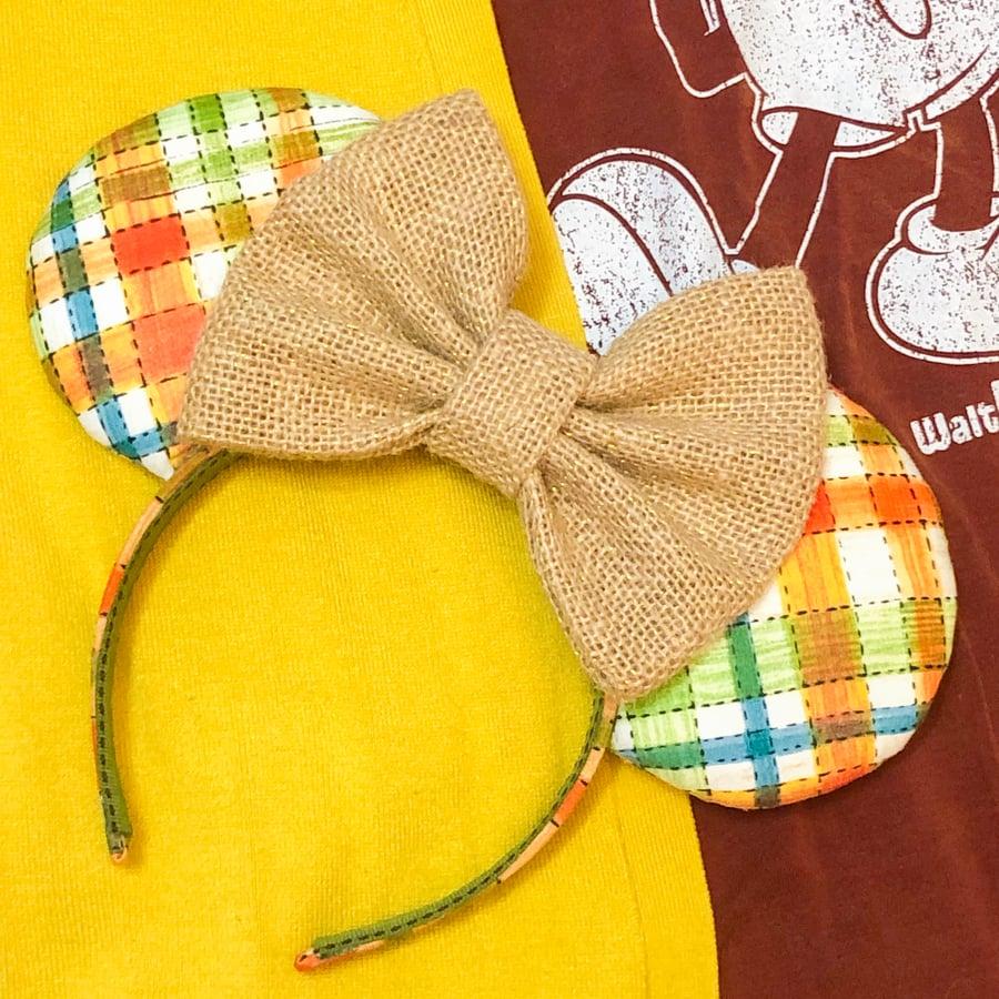 Image of Hay Ride Plaid Ears