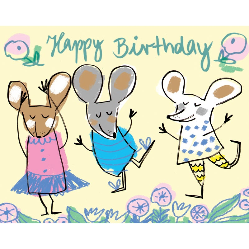 Image of Happy Birthday (Dancing Mice), Card