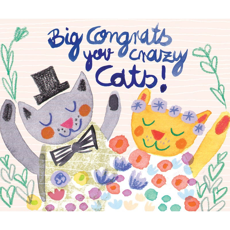 Image of Congrats you crazy cats! Card