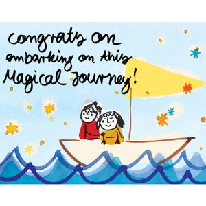 Image of Congratulations on embarking on this magical journey, Card