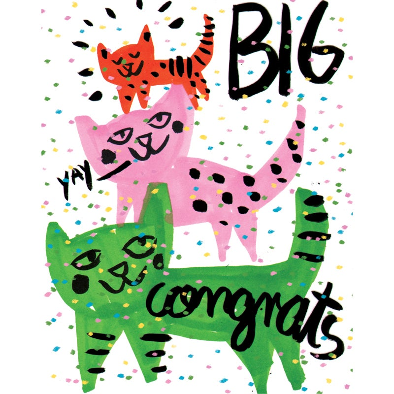 Image of Yay! BIG Congrats! Card