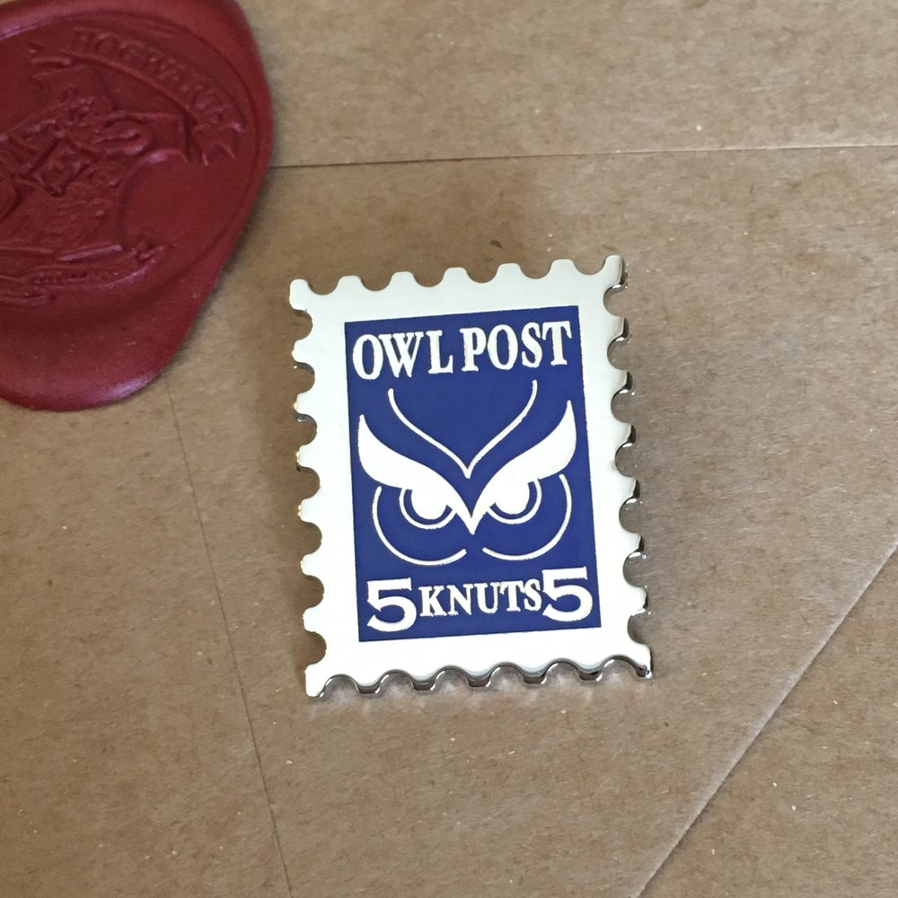 Image of Owl Post Stamp Pin
