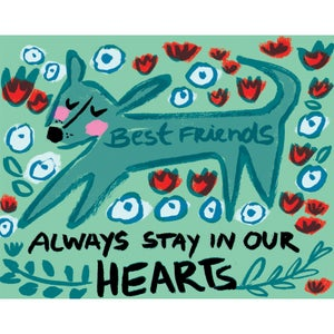 Image of Best Friends Always Stay in our Hearts (Dog), Card
